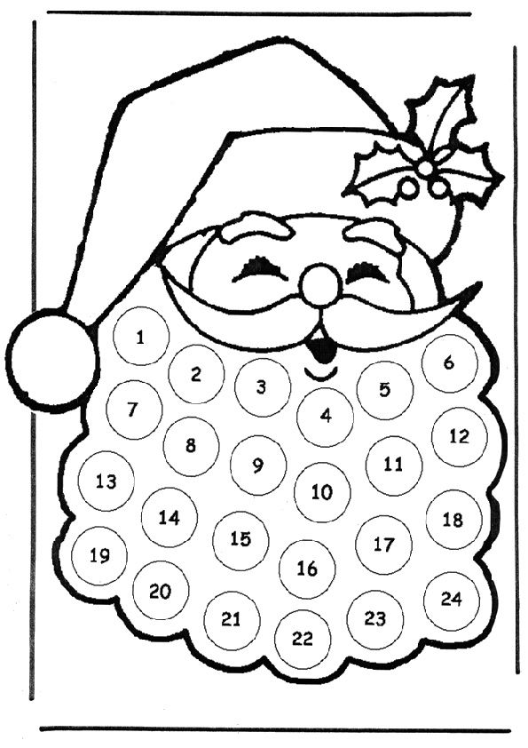 Ausmalbilder Nikolaus Ausmalbilder Fur Kinder Adventkalender Adventskalender Zum Ausmalen Weihnachtscountdown