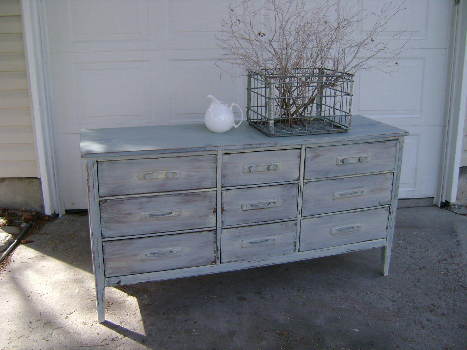 Amazing White Washed Furniture   White Washed Nine Drawer Dresser U2014 Vintage Farm  Furniture