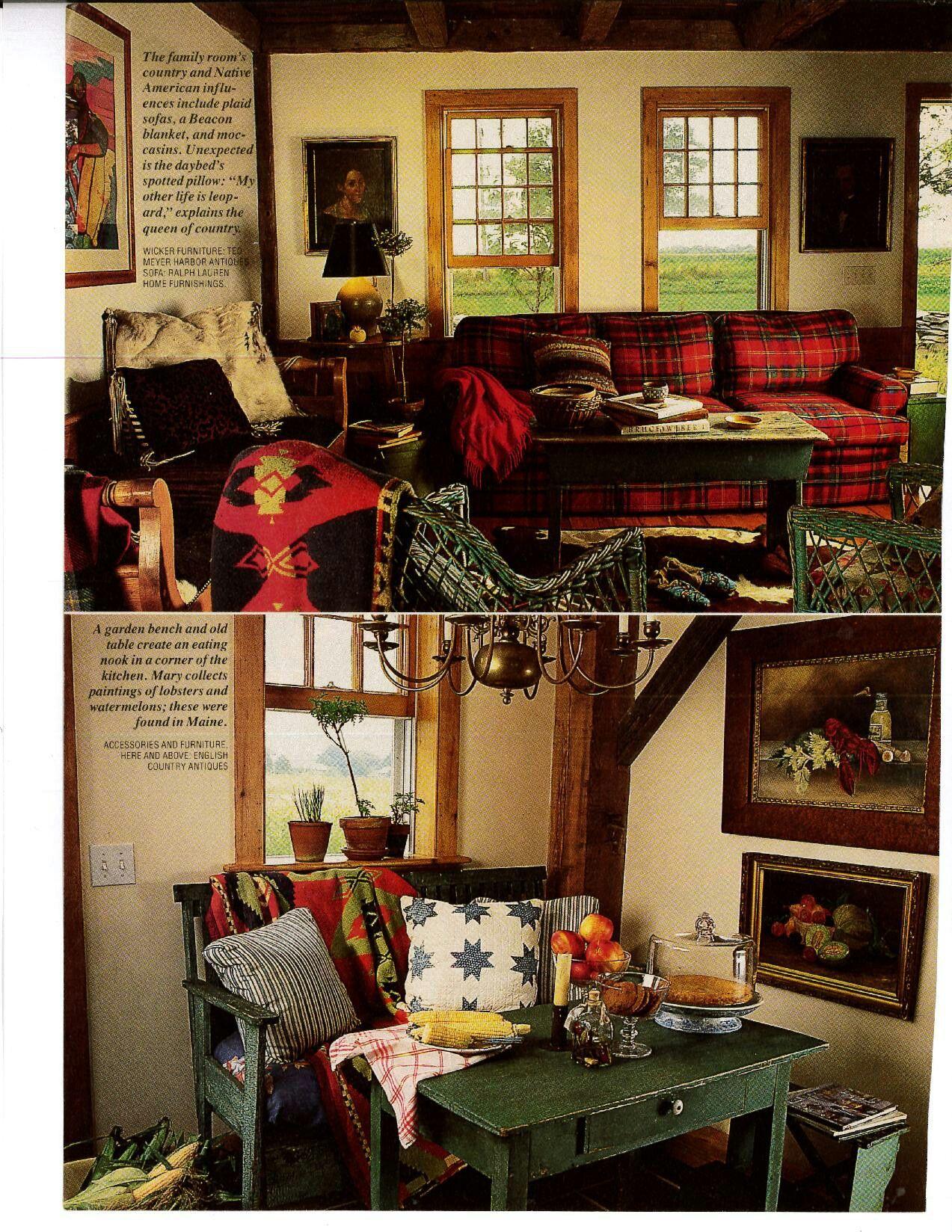 Home Of Mary Emmerling Vintage Ralph Lauren Furnishings Cozy Room Home Home Decor #santa #fe #living #room