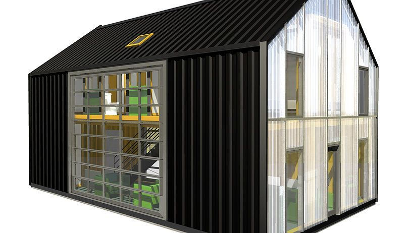 Industrial Zombie Shipping Container Architecture Steel House