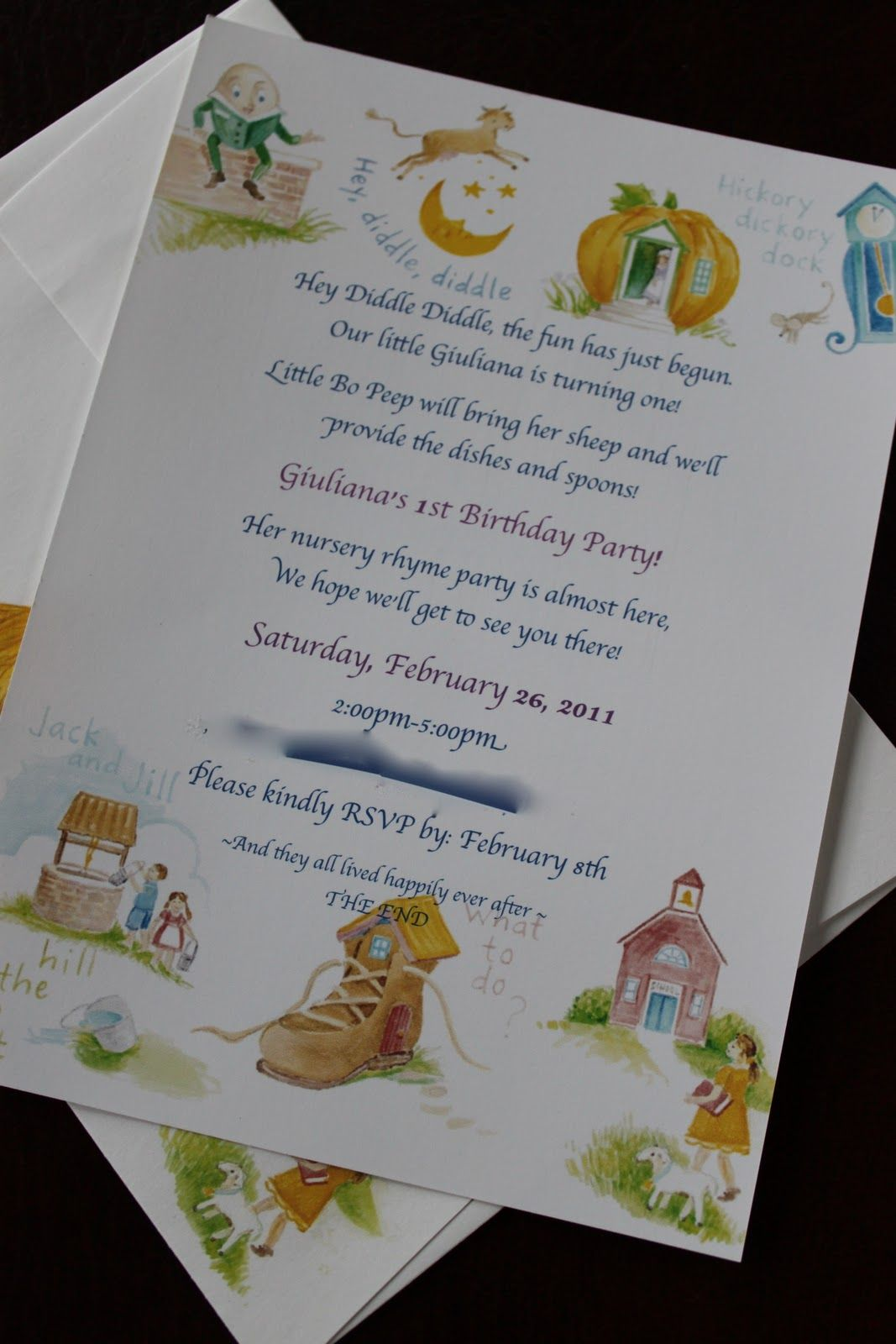 Nursery Rhyme Invitation My Favorite One Yet With
