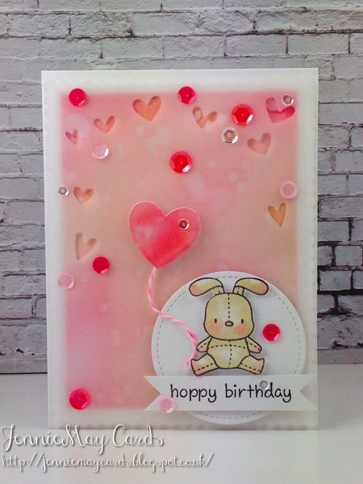 JennieMay Cards: Hoppy Birthday Card