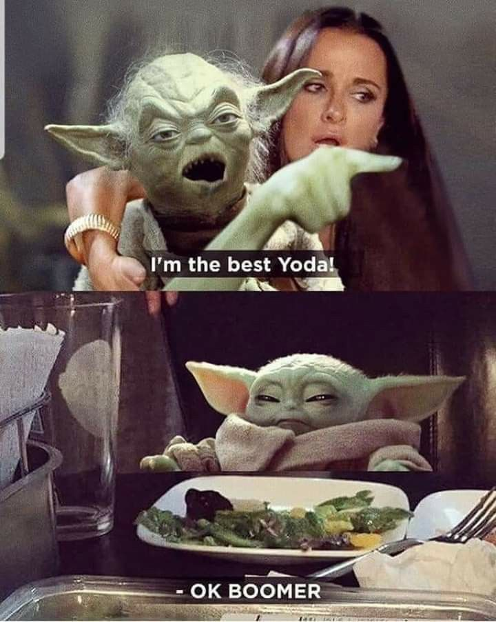 Pin By Monaxina On For The Love Of Baby Yoda Yoda Funny Star Wars Humor Funny Star Wars Memes