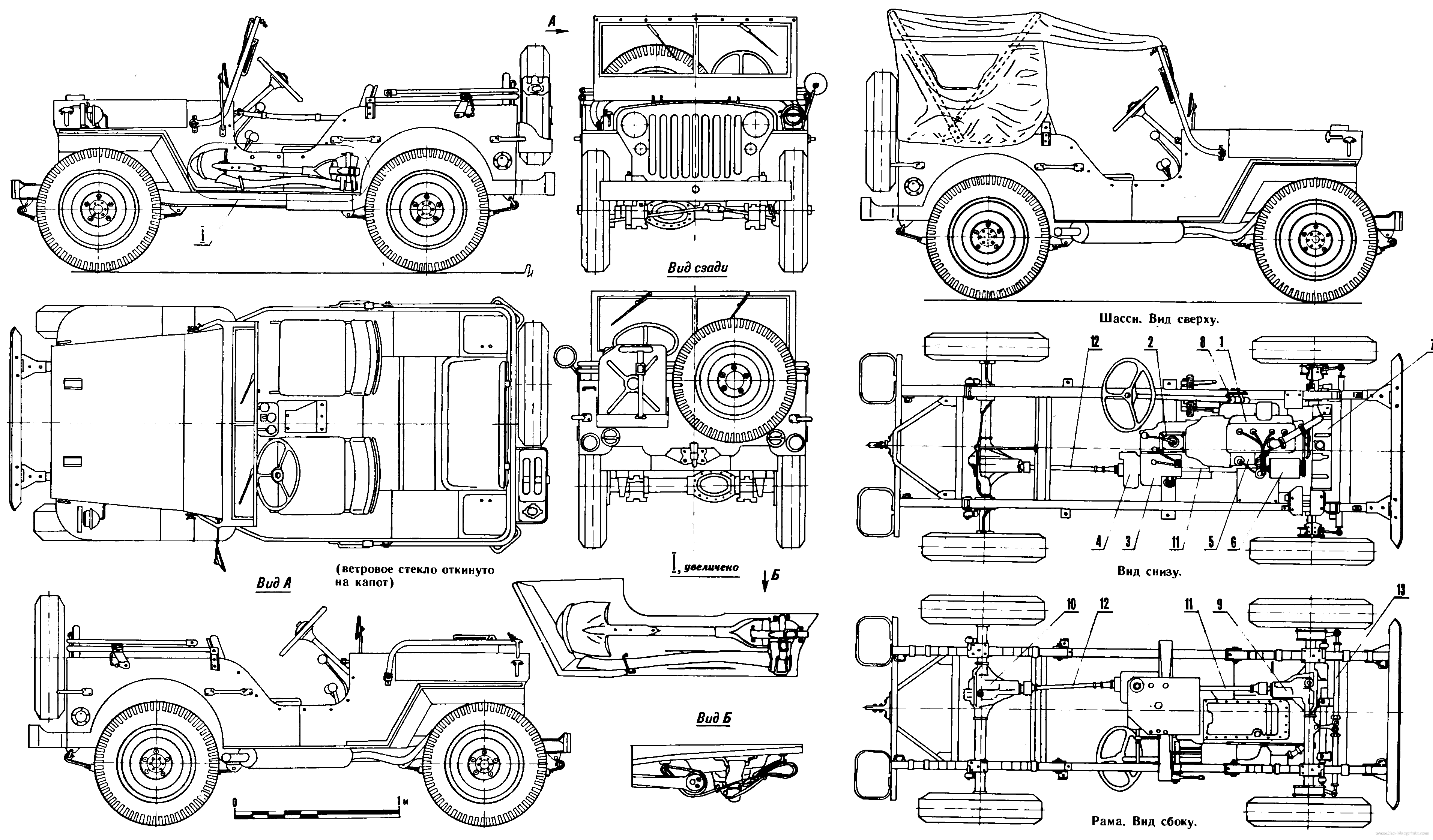 Line Drawing Jeep : Willys mb blueprints blueprint pinterest