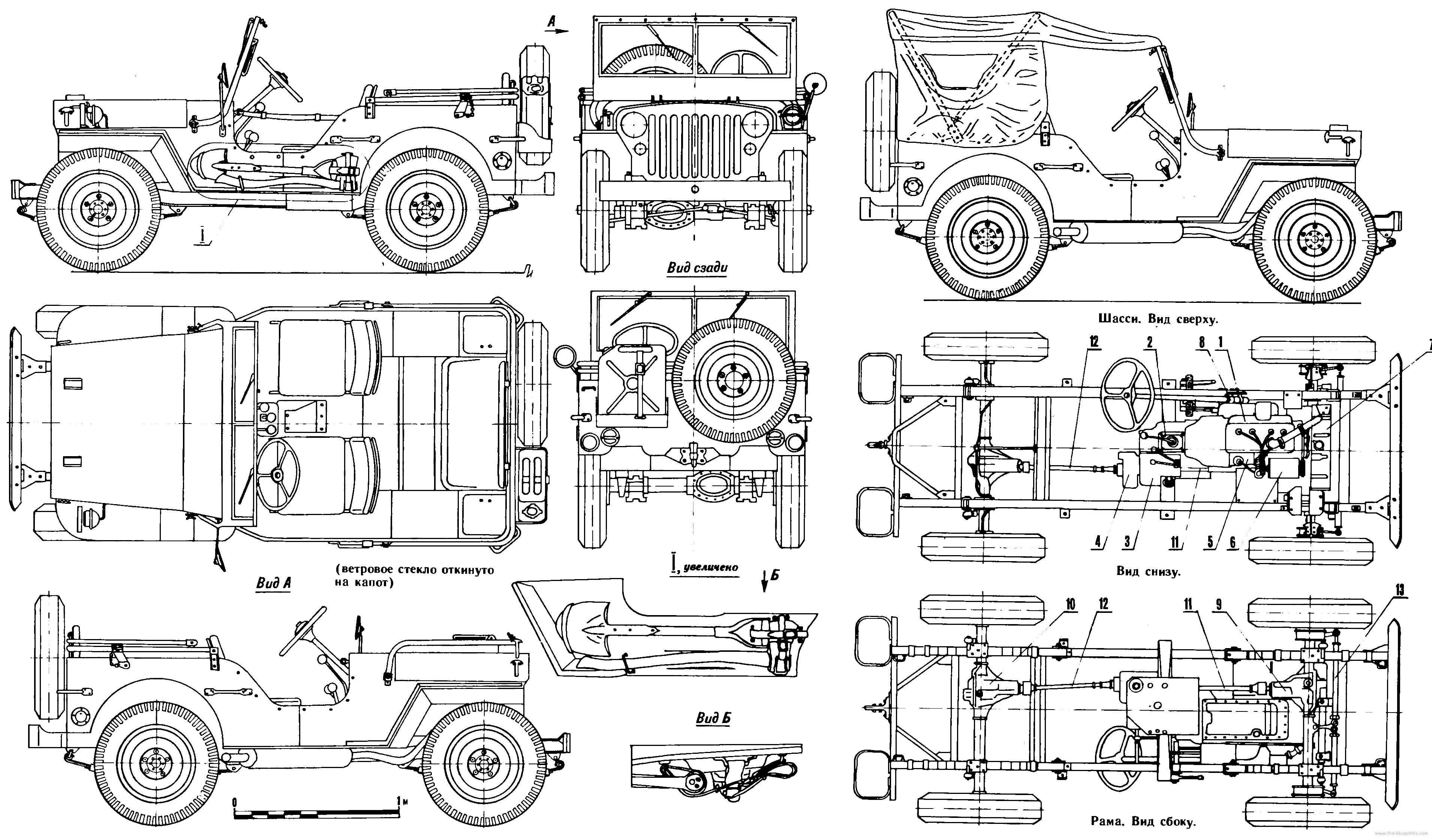 Line Drawing Jeep : Willys mb blueprints blueprint pinterest