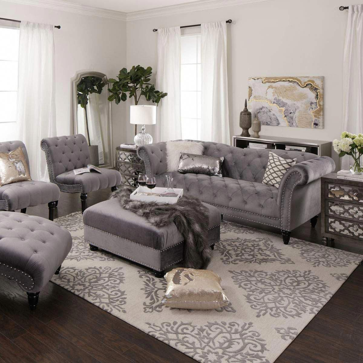 Best Bella Sofa Chair In Steel Jerome S Furniture 640 x 480