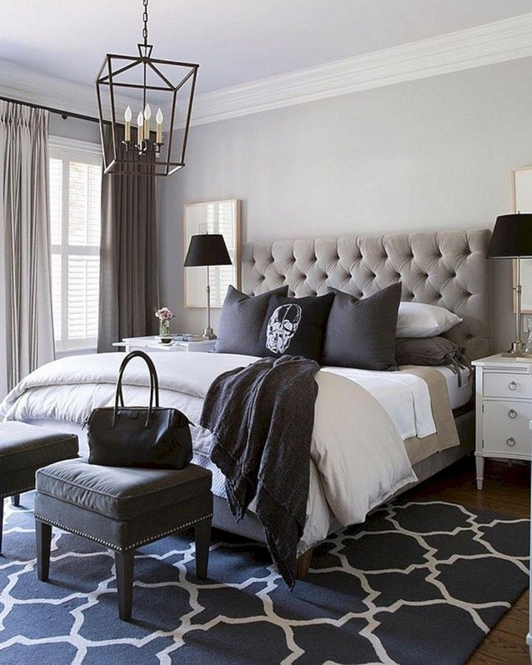 35 Stunning Black Bedroom Color Schemes Ideas Shabby Chic Decor
