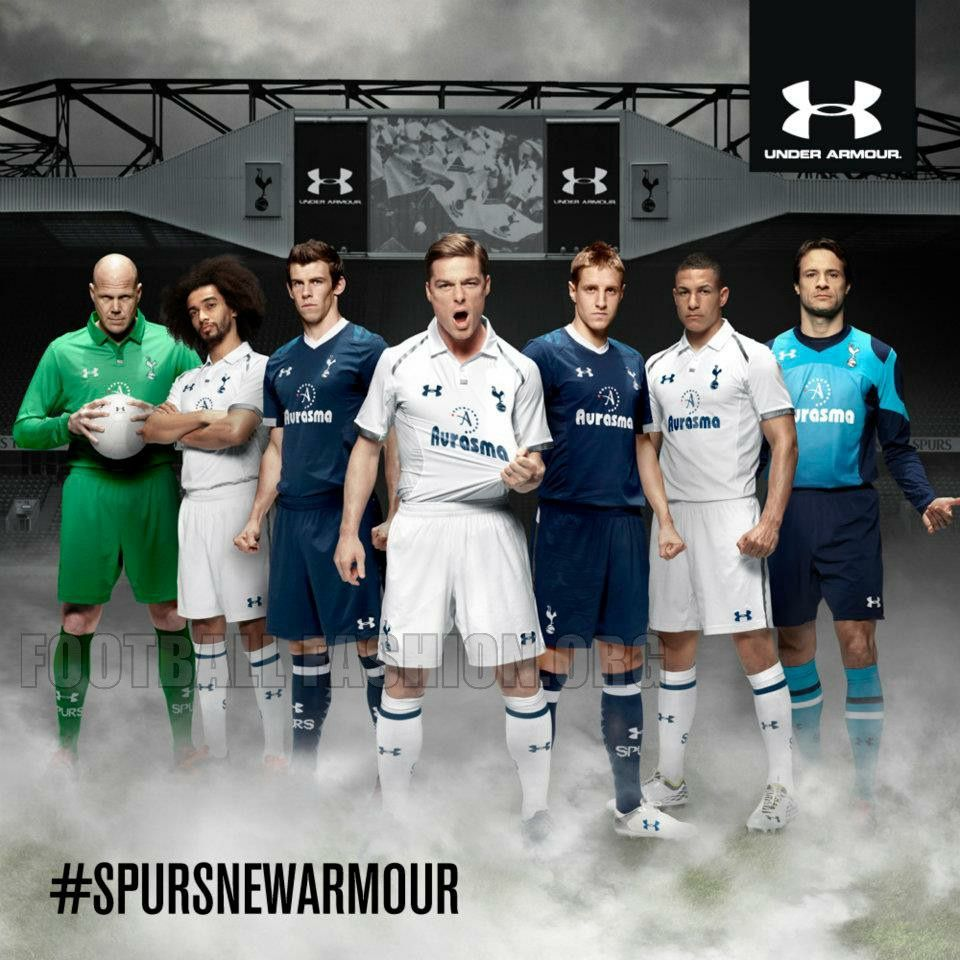 92c1ea166 Tottenham Hotspur Under Armour 2012 13 Home and Away Kits