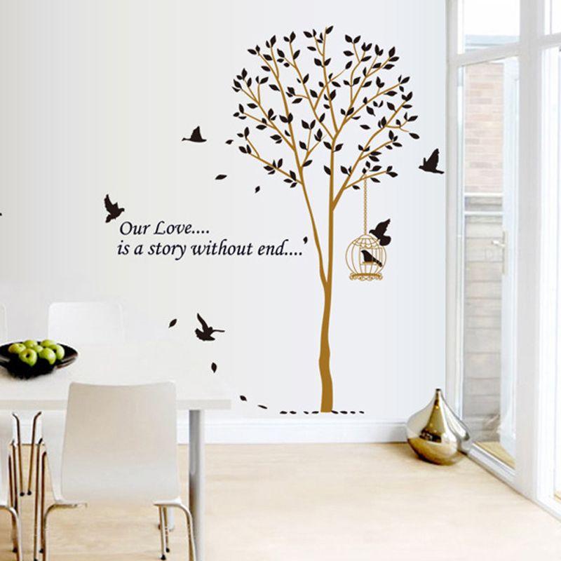Encontrar m s pegatinas de pared informaci n acerca de 1 unids rbol de dibujos cosas que - Dibujos para decorar paredes de dormitorios ...