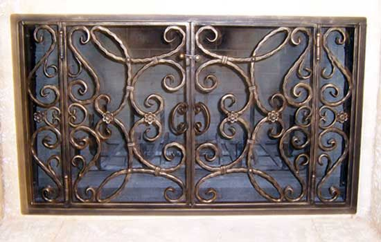 Fireplace screens and Wrought iron