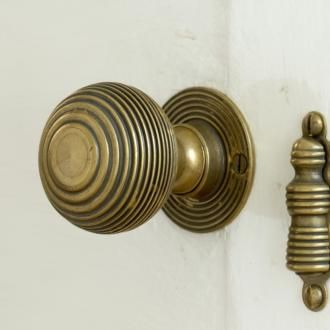 Brass Reeded Door Handles | Door Furniture | Jim Lawrence : lawrence door - Pezcame.Com