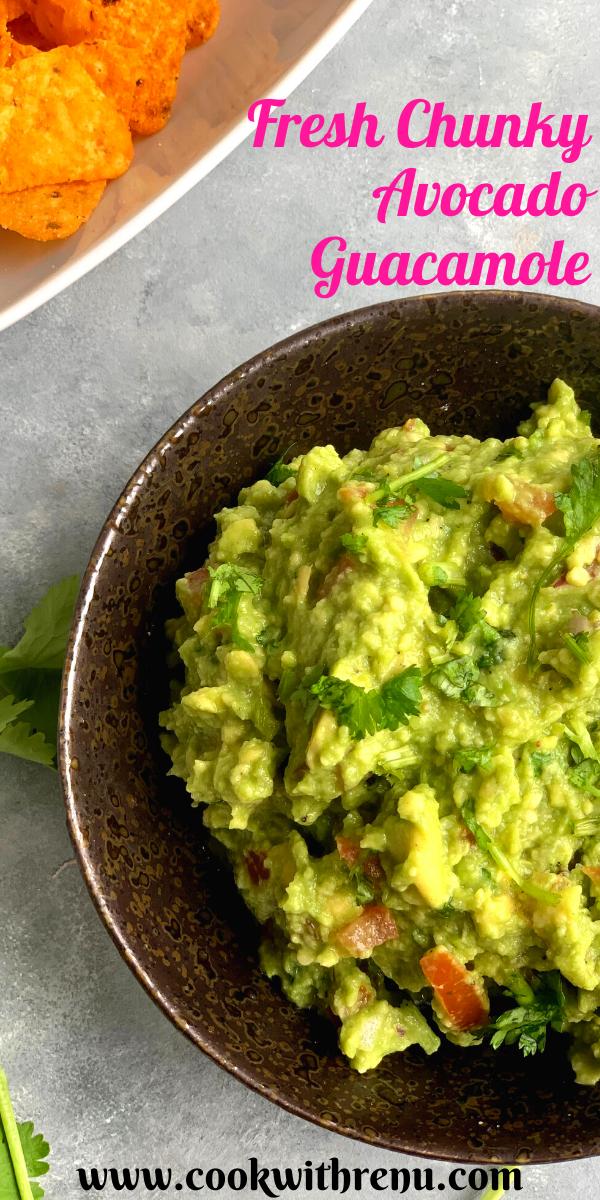 Easy Chunky Avocado Guacamole In 2020 Easy Appetizer Recipes Vegetarian Recipes Recipes