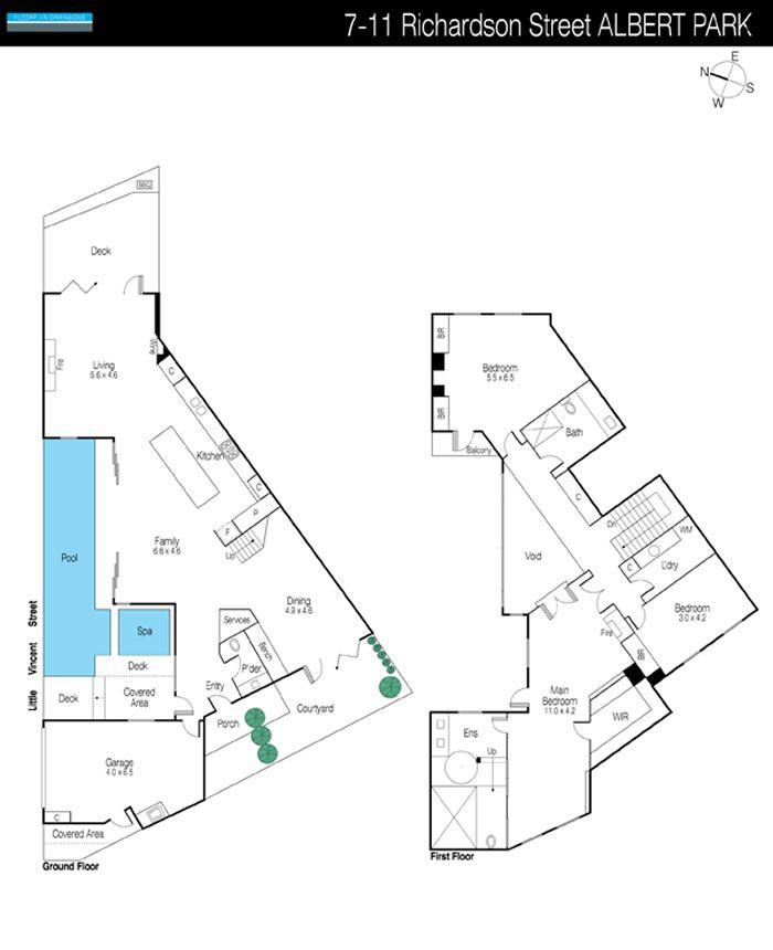 Lovely Triangular Lot House Plans