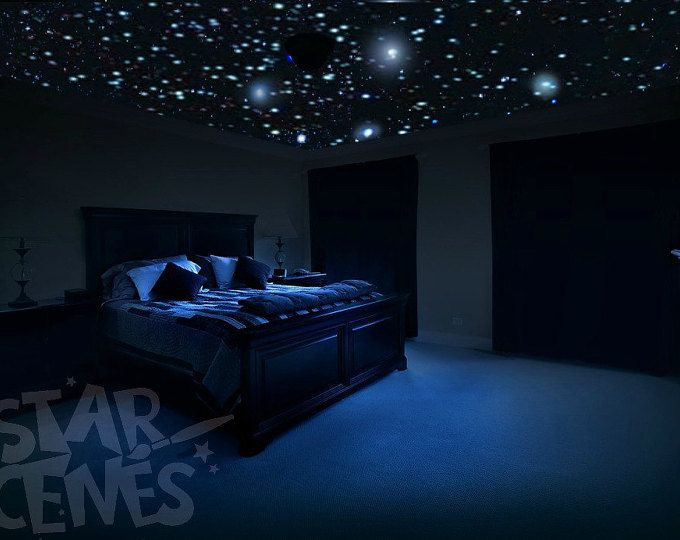 Romantic Bedroom Decor Star Wall Decal Glow In The Dark Stars