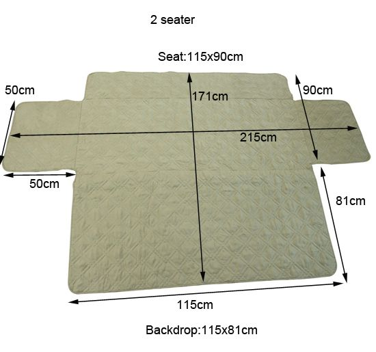 2 Seater Quilted Sofa Cover Protector Pet Mat Pad Sofa Throw