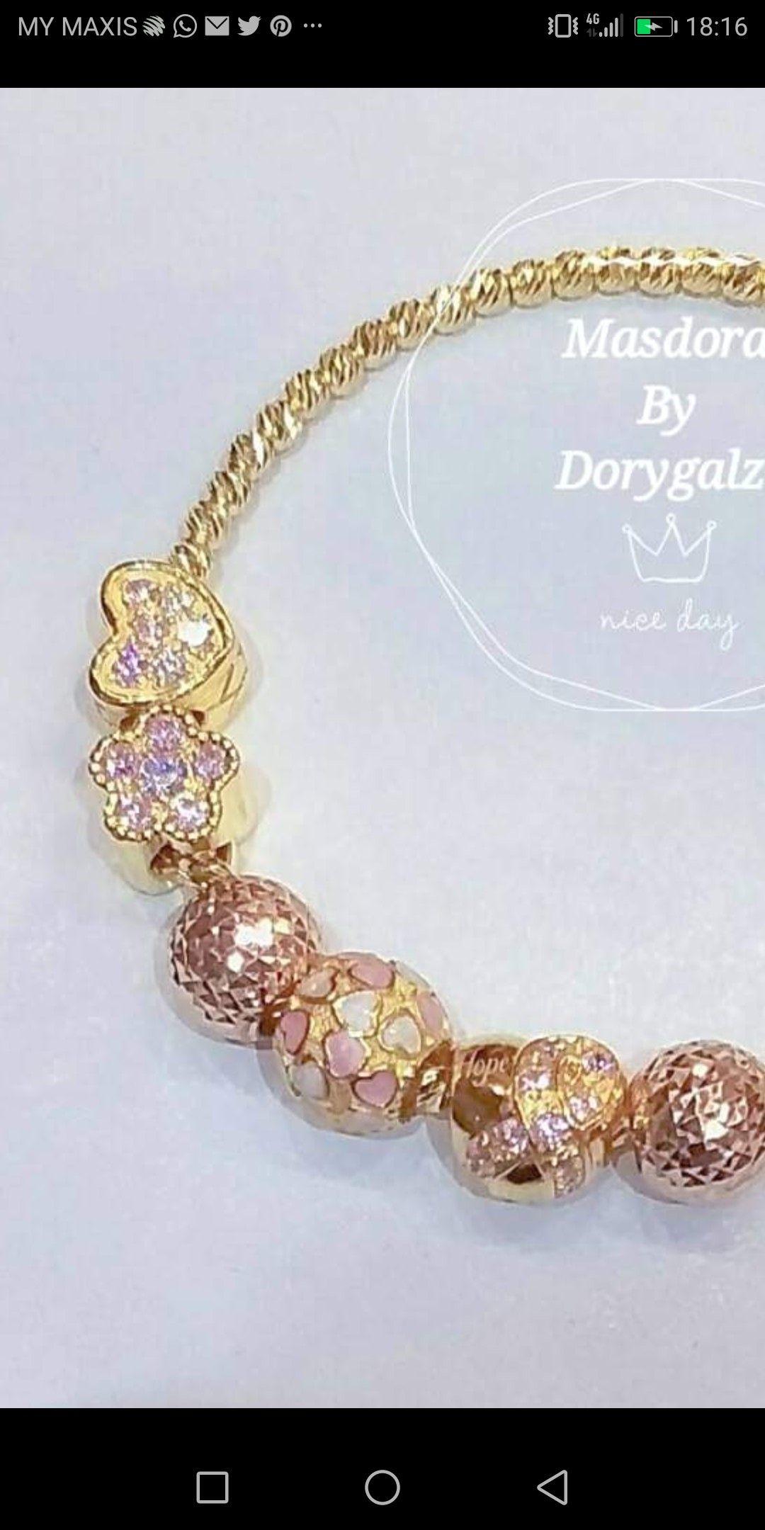 7ab18e764 ... GOLD 916 Bracelet by Annaraisya. Tags. Pandora Charms · Pandora Charms