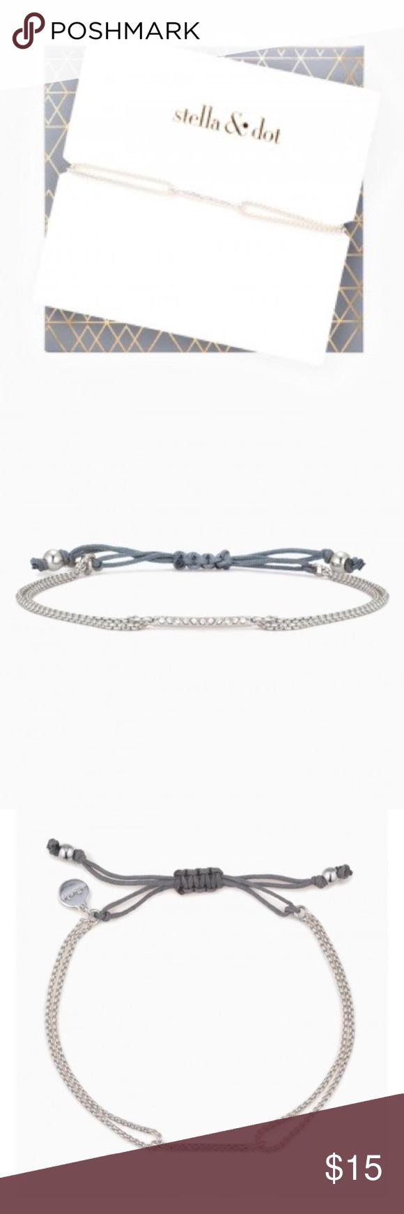 Stella Dot Pave Wishing Bracelet New In Package Stella Dot