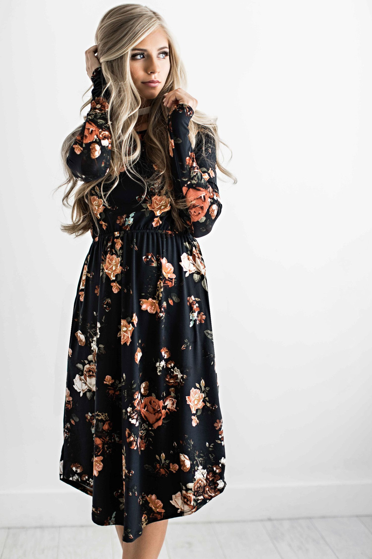 floral dress, floral, fall style, fall outfit, fall fashion ...