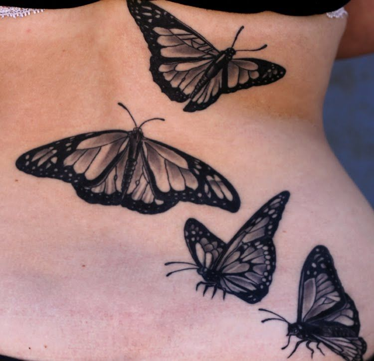 Butterflies Tattoo Tattoos Black And Grey Butterfly Tattoo Realistic Butterfly Tattoo Butterfly Tattoo Designs