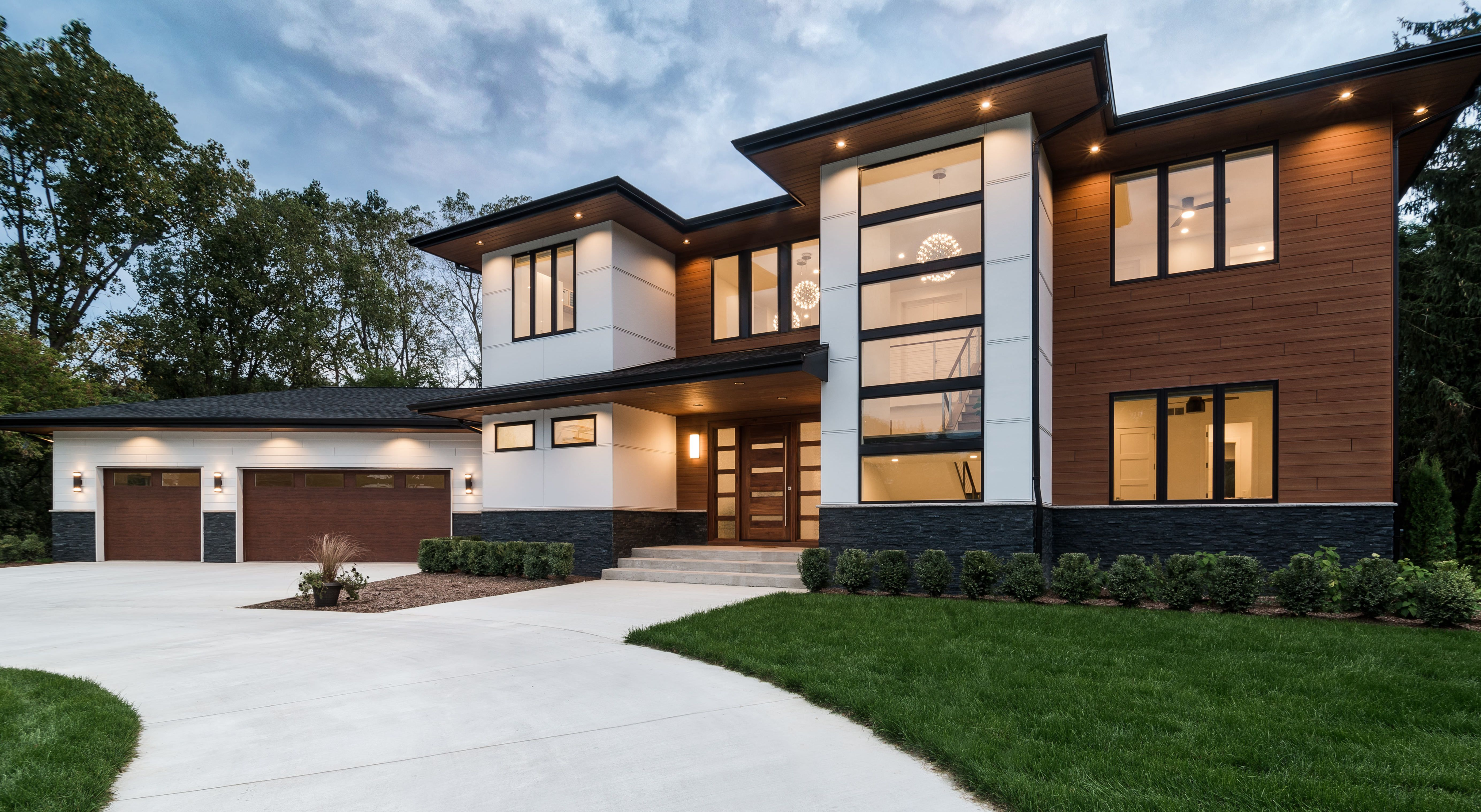 Custom Home Bloomfield Hills Mi Labra Design Build Custom Homes House Architecture Design Modern House Exterior