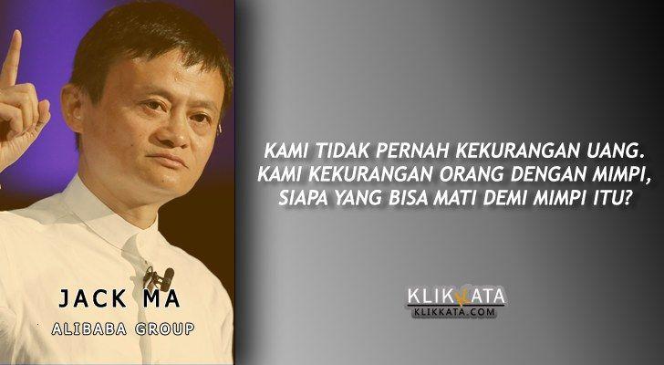Koleksi Kata Motivasi Jack Ma Quotes Katakata Gambarkata Voimon