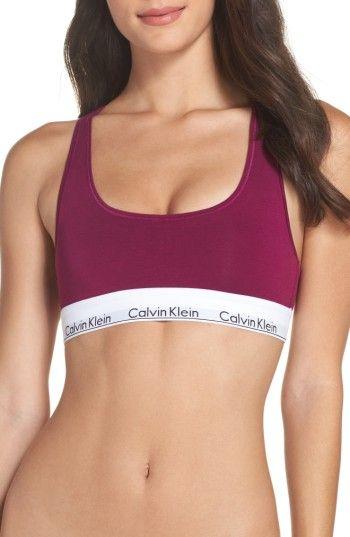 23c31e0531c9c CALVIN KLEIN MODERN COTTON COLLECTION COTTON BLEND RACERBACK BRALETTE.   calvinklein  cloth   Convertible