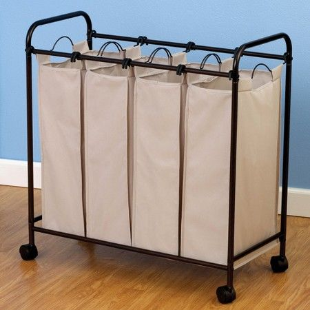 Household Essentials 4 Compartment Laundry Sorter Laundry Sorter