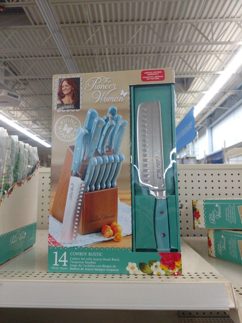 Pioneer Woman blue knife set from Walmart | Things I love ...
