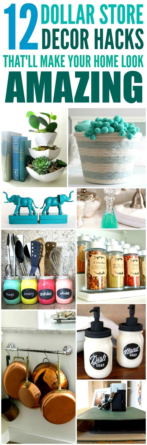 These 12 Dollar Store Decor Hacks Are THE BEST! Iu0027m So Glad I Found These  AMAZING Home Decor Ideas And Tips! Now I Have Great Ways To Decorate My Home  A A ...