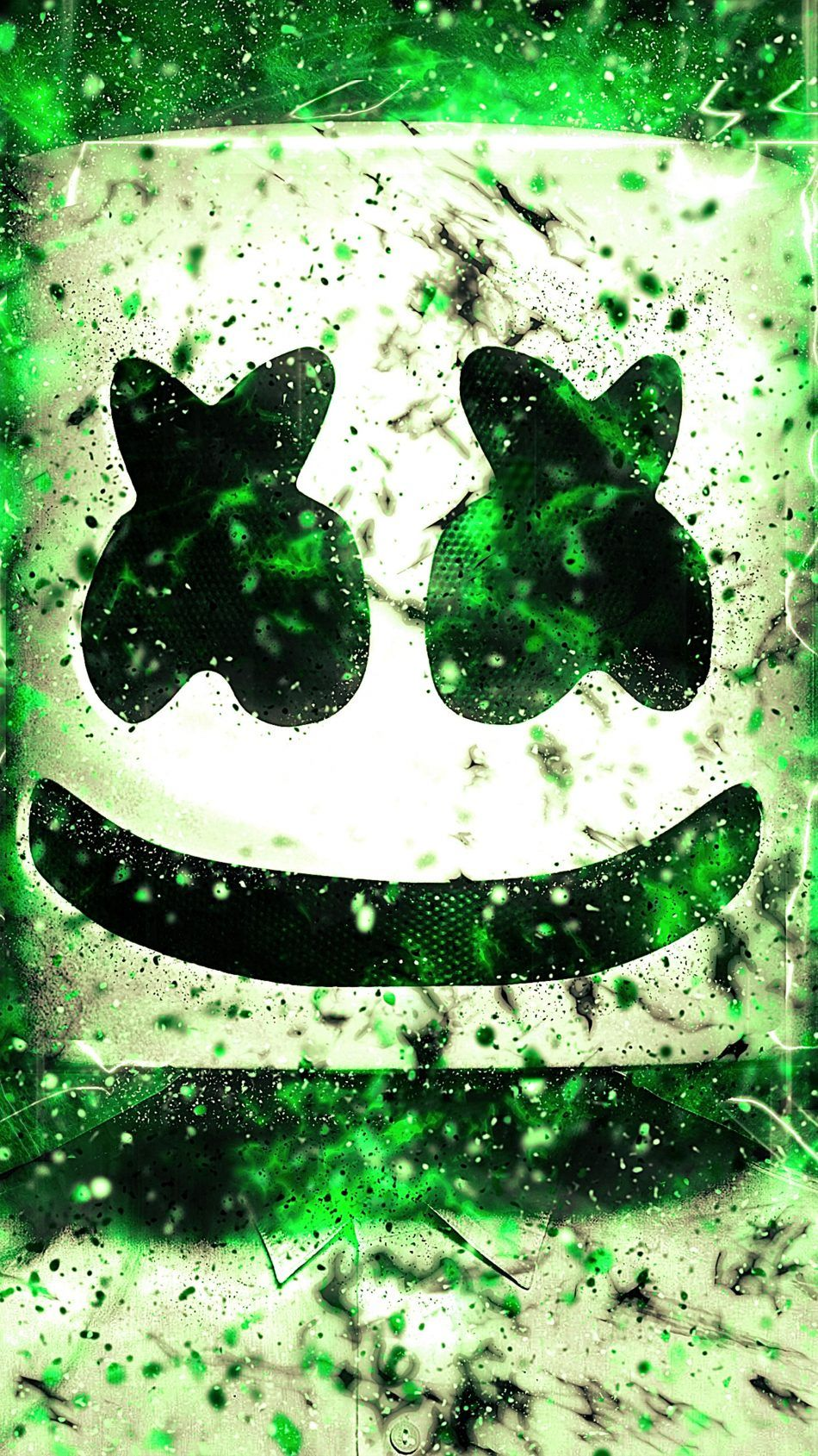 Marshmello Green Neon Artwork 4k Ultra Hd Mobile Wallpaper Marshmello Wallpapers Papeis De Parede Para Iphone Papeis De Parede Para Download