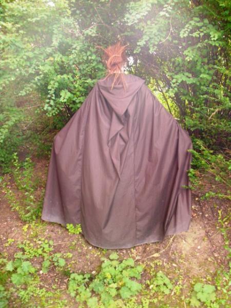 Brown Fleece Cloak w//Caplet Medieval Cape Renaissance Handmade By SewingCreators