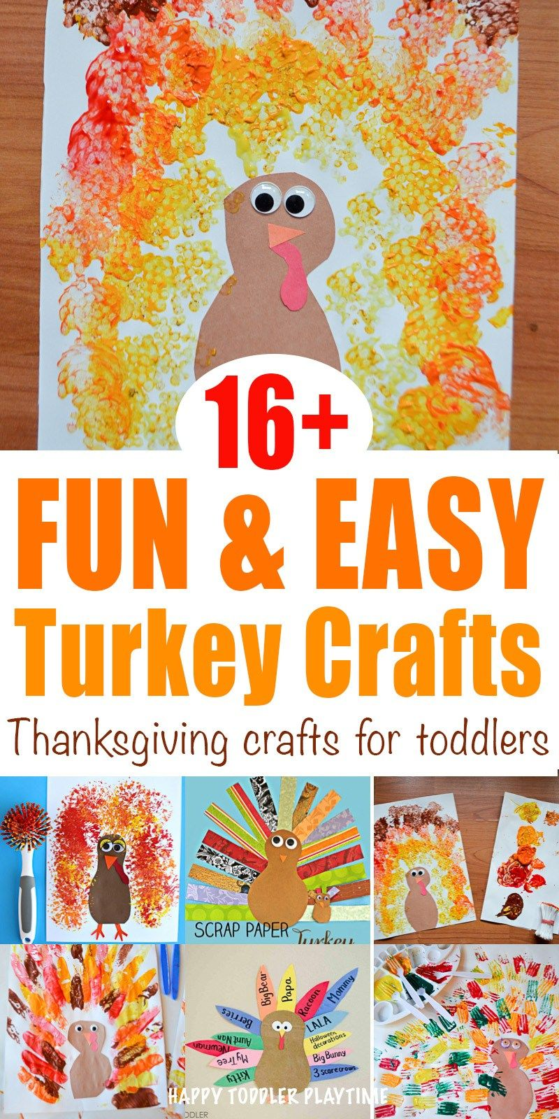 20+ Fun & Easy Thanksgiving Crafts - HAPPY TODDLER PLAYTIME