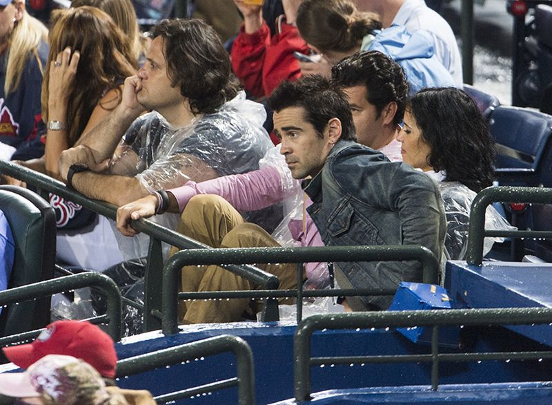 Actor Colin Farrell took in a Braves game on the 4th of July!