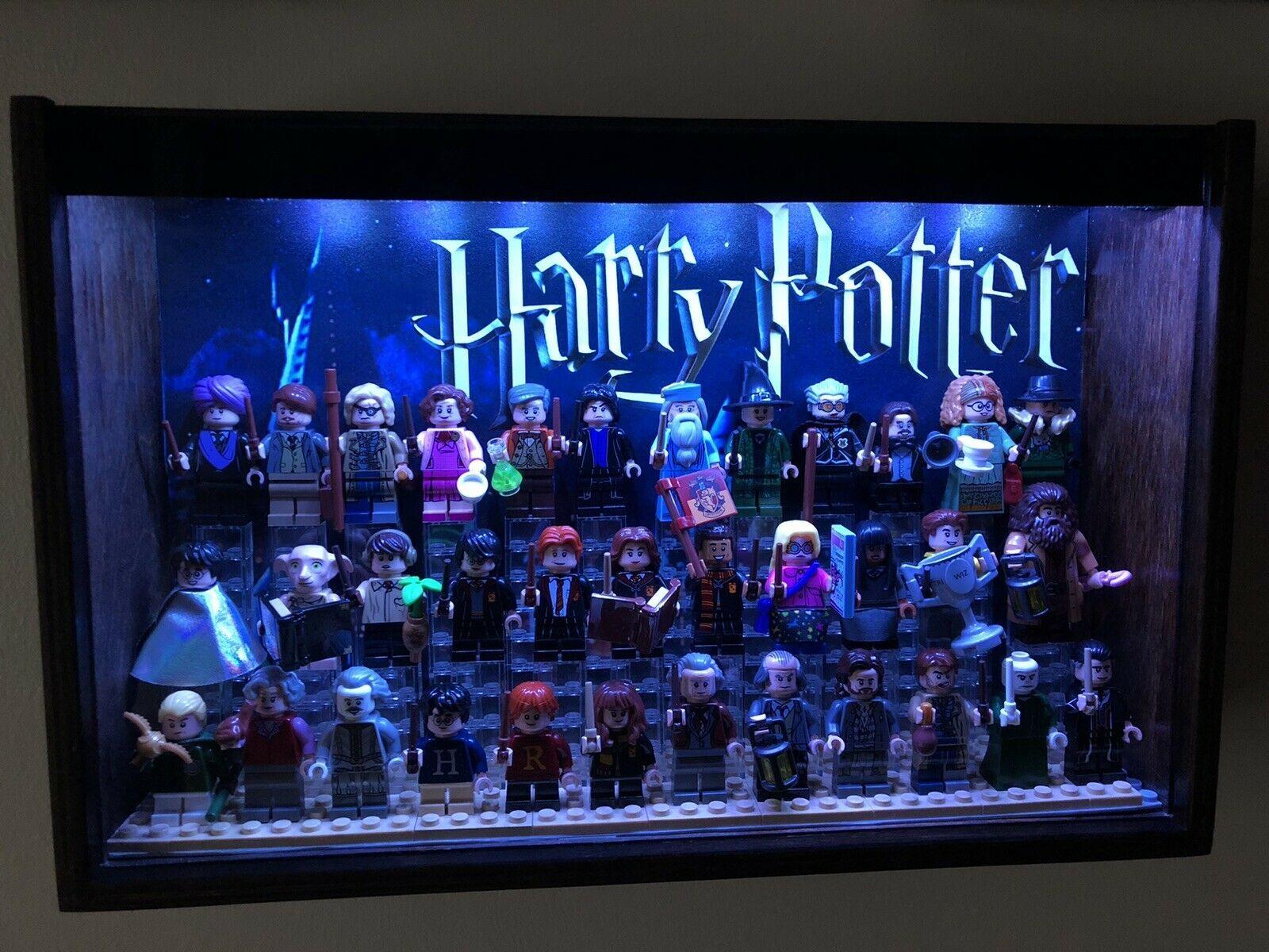 Lego Harry Potter Cmf Minifigures Bricktober With Custom Light Up Display Case Ebay Lego Display Display Case Lego Harry Potter