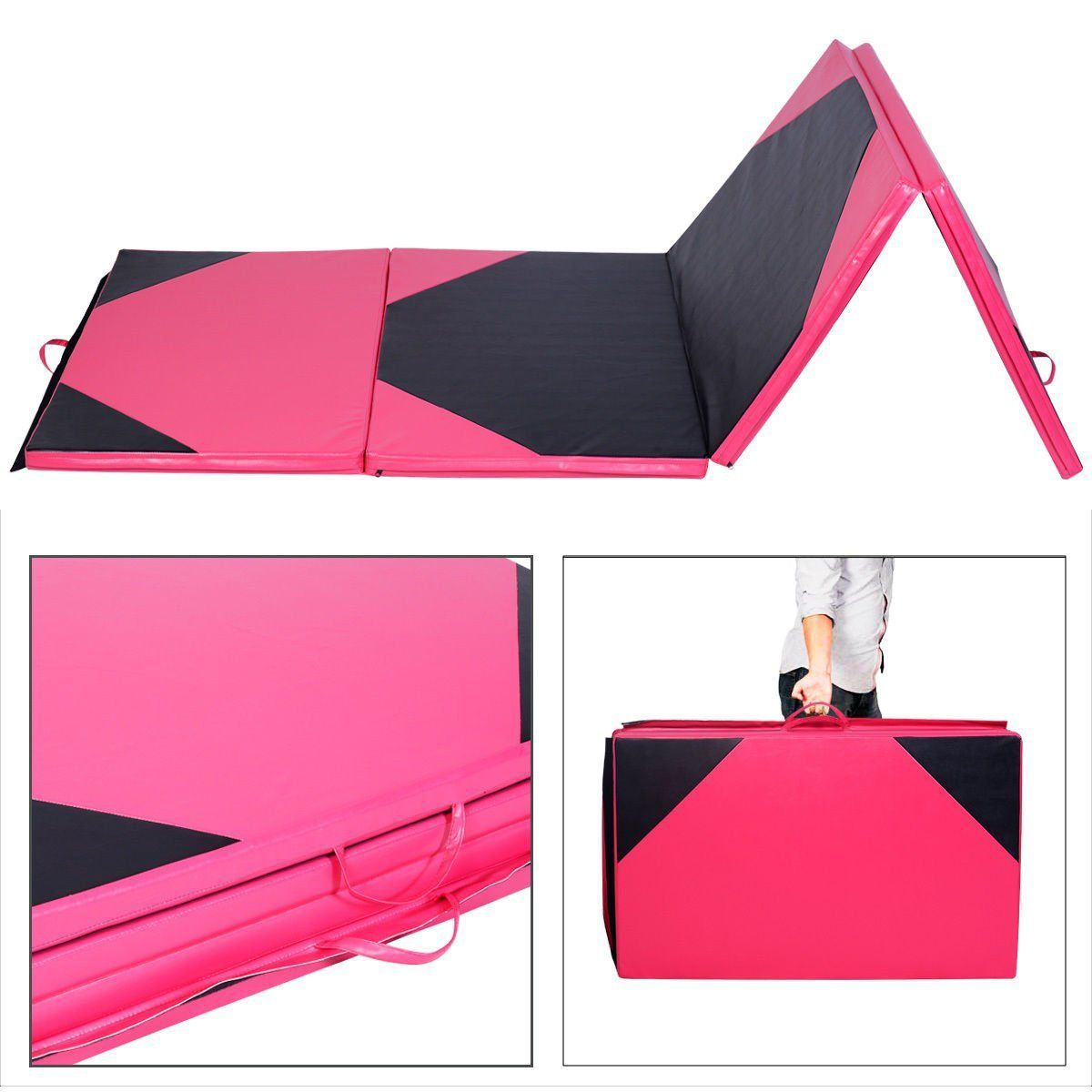 Yoga Mats 4 X10 X2 Thick Folding Panel Gymnastics Mat Gym
