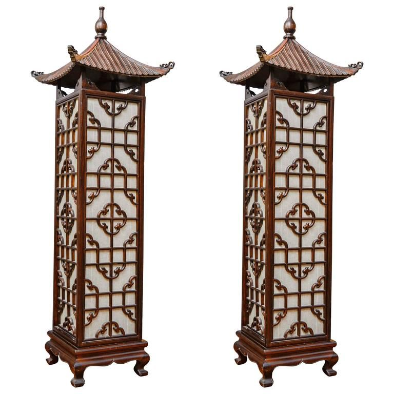 Pair Of Chinese Style Floor Lamps Floor Lamp Old Lanterns Chinese Lamps
