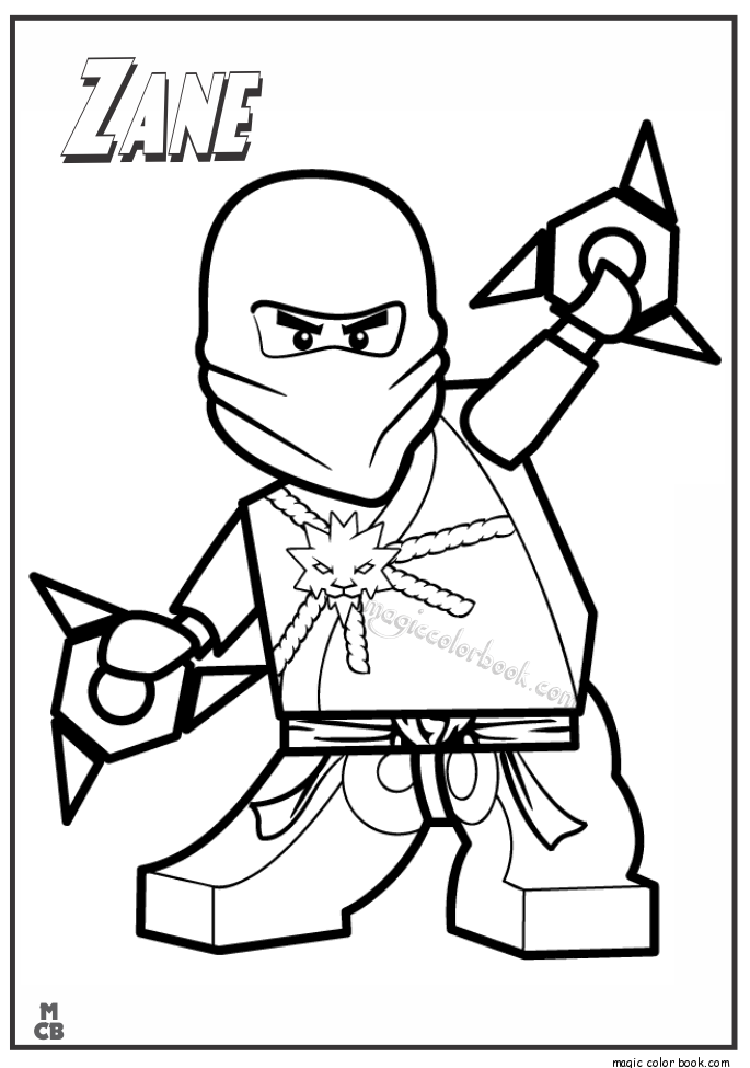Ninjago Lego Coloring Pages Zane Coloring For The Kiddos Lego