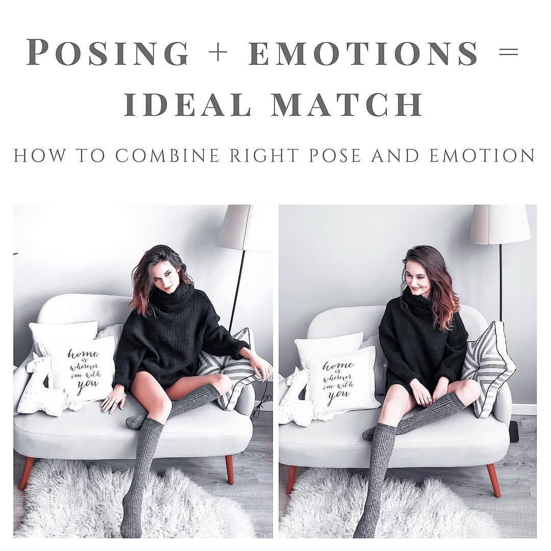 Как позировать перед камерой: способы передать эмоции на фото ... | 1080x1080