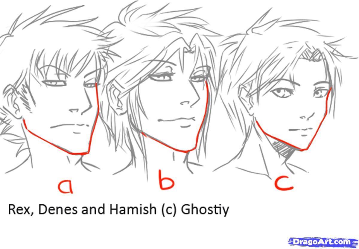 Male Manga Jaw Variations Manga Drawing Guy Drawing Online Drawing