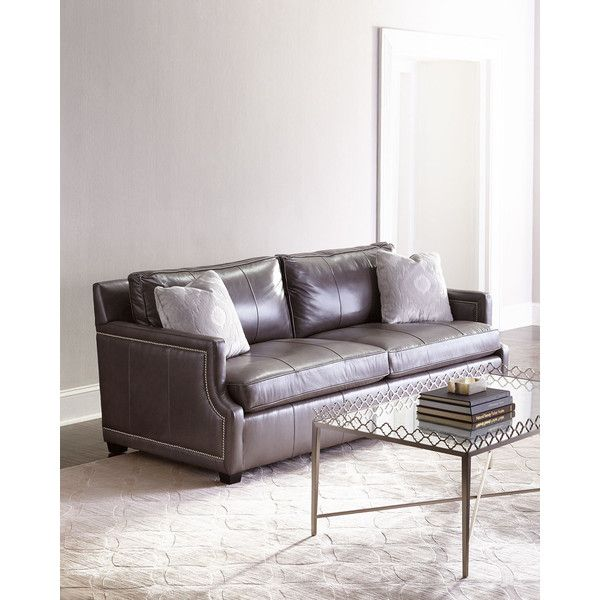 Bernhardt Mirabelle Leather Sofa (30.505 HRK) ❤ Liked On Polyvore Featuring  Home, Furniture