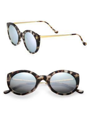 1fc9fdf2112 ILLESTEVA Palm Beach 50MM Cat s-Eye Mirrored Sunglasses.  illesteva   sunglasses