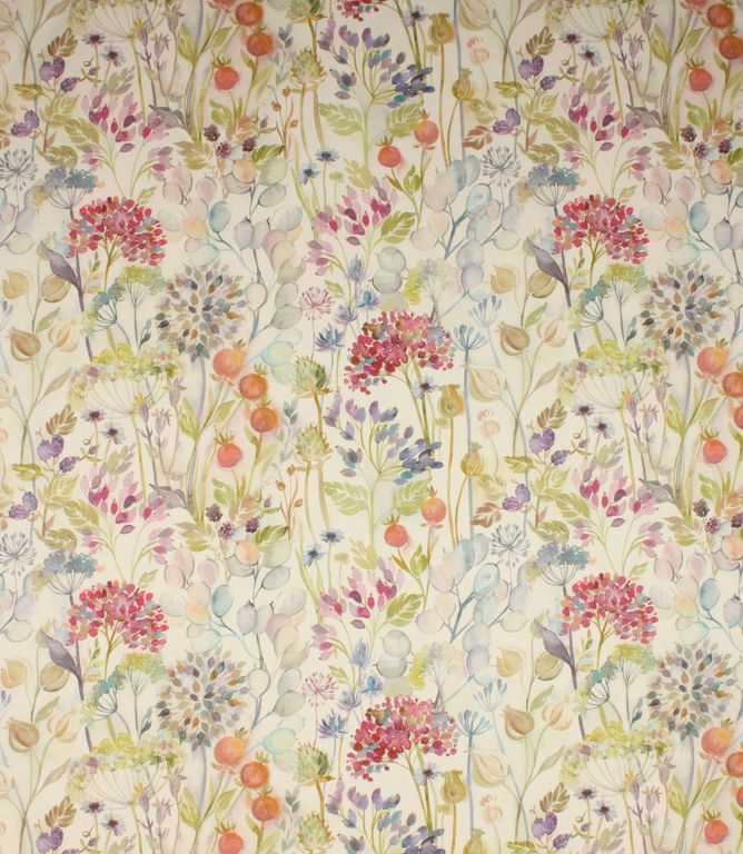 Beautiful 100% linen fabric with a stunning watercolour design ...