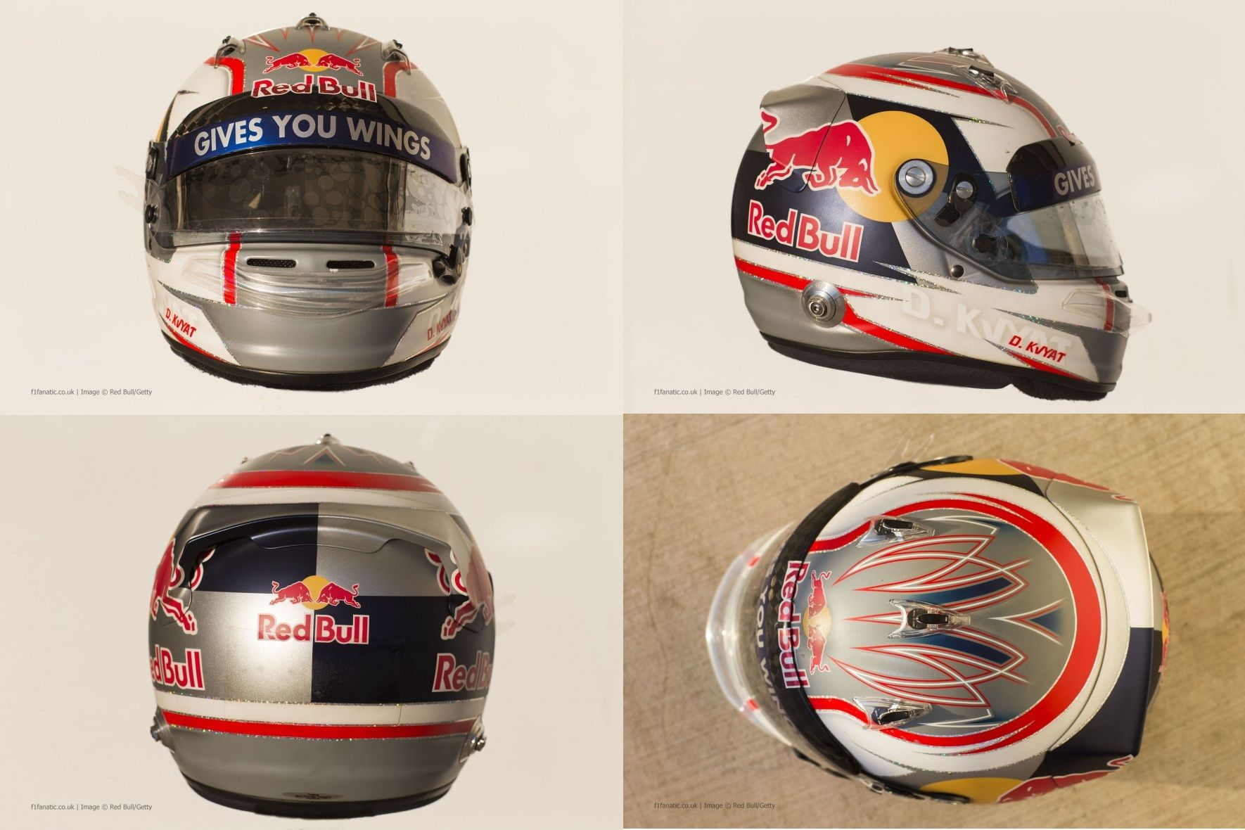 Daniil Kvyat helmet Scuderia Toro Rosso