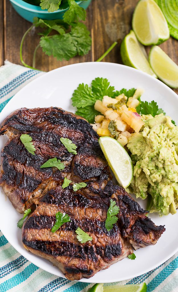 Grilled Margarita Steak, margarita flavors in your steak! Delicious Cinco de Mayo Party Food by DIY Ready at http://diyready.com/23-cinco-de-mayo-recipes-to-get-the-party-started/