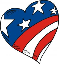 Usa flag heart. Shaped american hearts th