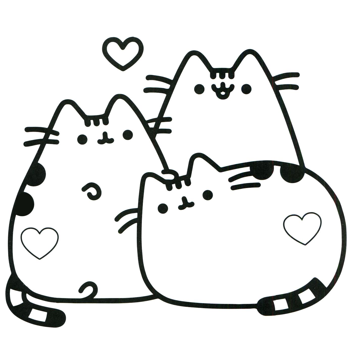 Dibujos De Pusheen Para Colorear Dibujos Para Colorear Coloreartv Com Gatito Para Colorear Dibujos Kawaii Dibujo Gato Facil