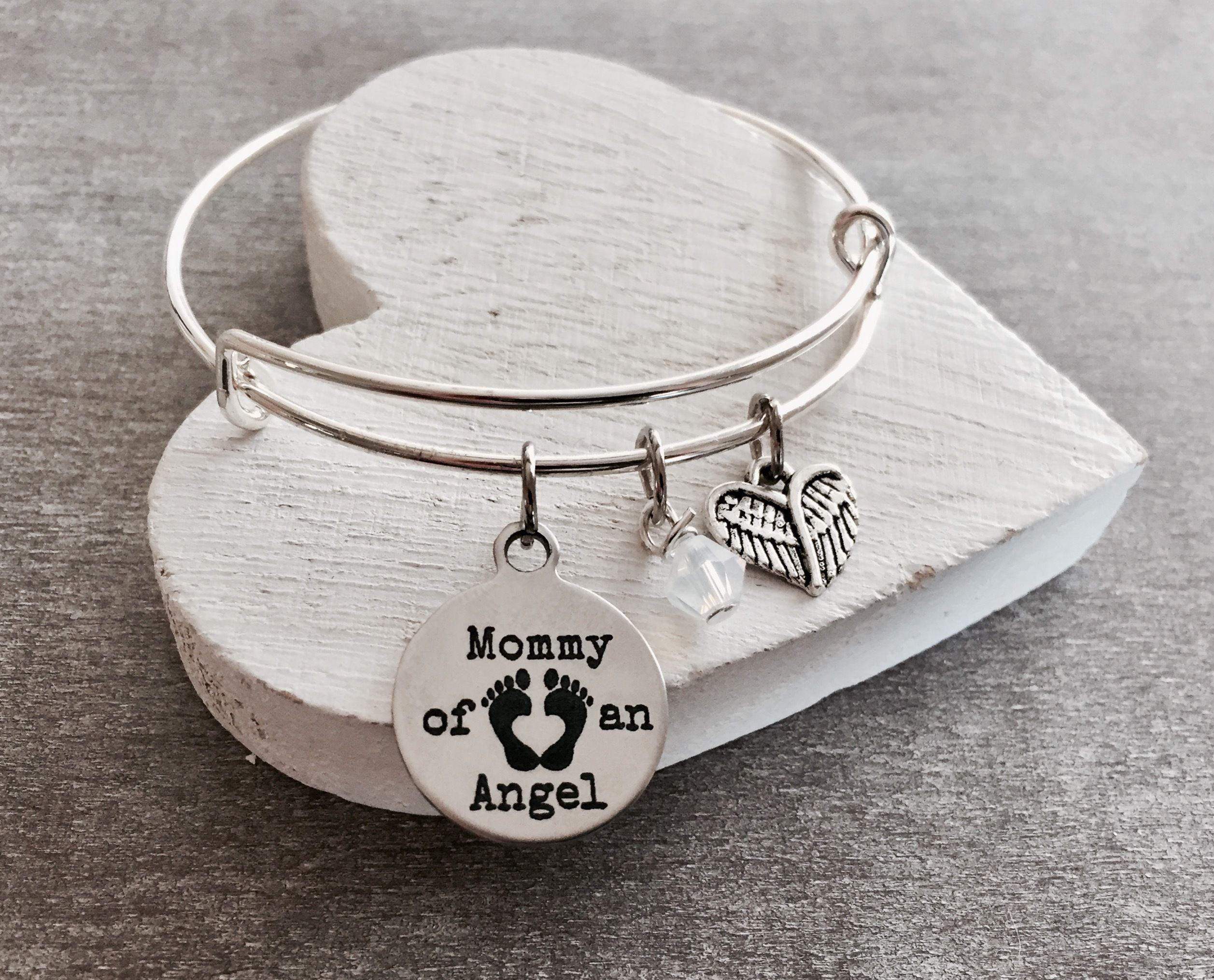 Mommy of an Angel Forever in my heart Charm Bracelet Loss of