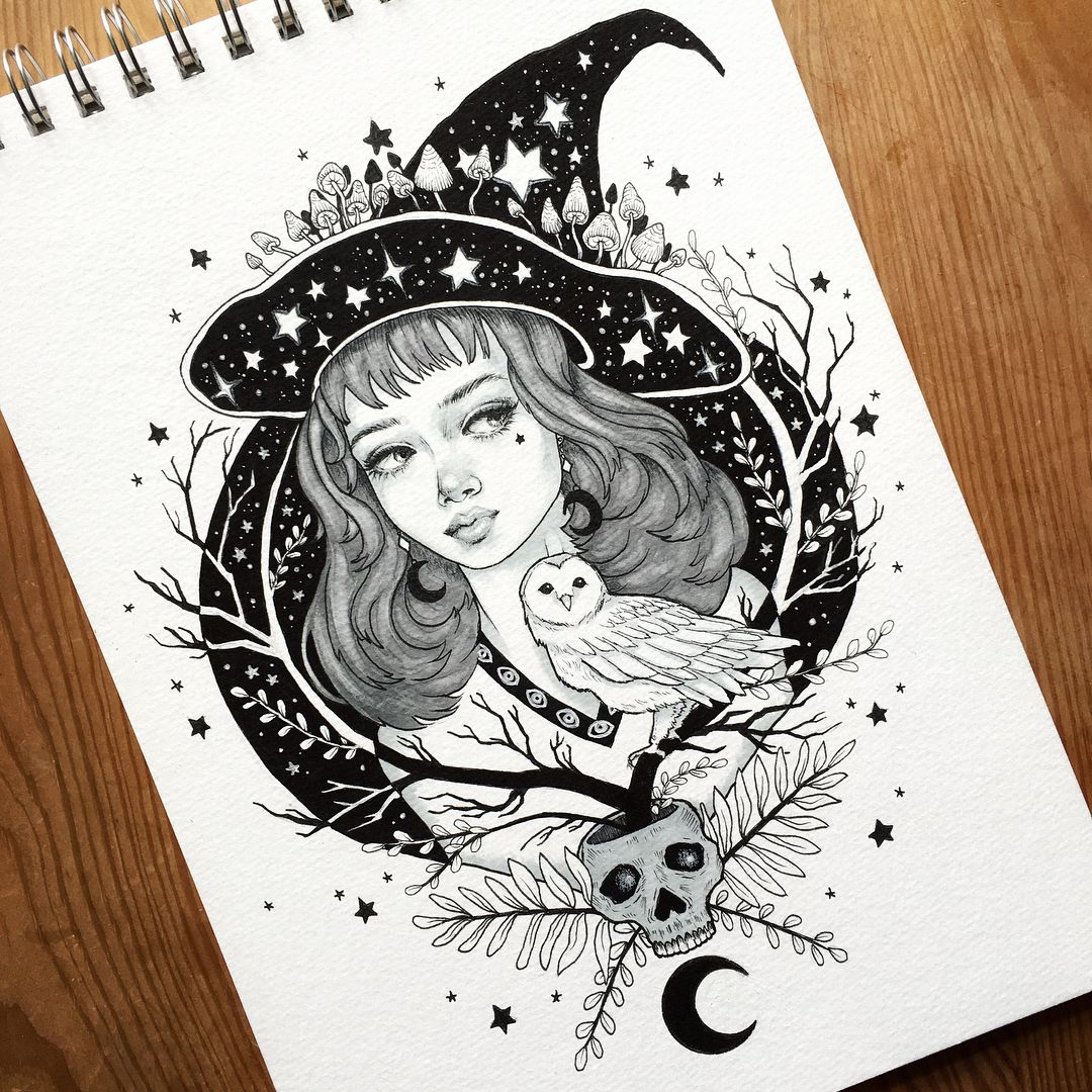 Pin By Rae Appel On Wixen Drawings Witch Sketches