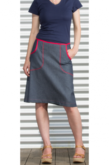 Surface Art Aline Denim Pocket Skirt