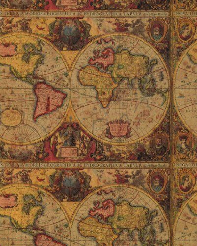 Old world maps gift wrapping paper 26 x 6 emerald lake designs old world maps gift wrapping paper 26 x 6 emerald lake designs http gumiabroncs Gallery